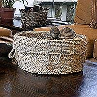 Maguey basket, 'Ixchel' - Hand Made Natural Fiber Basket