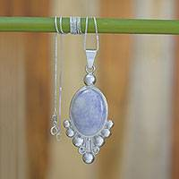 Jade pendant necklace, 'Lilac Jocotenango' - Jade pendant necklace