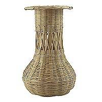 Reed basket, 'Natural Beauty' - Reed basket