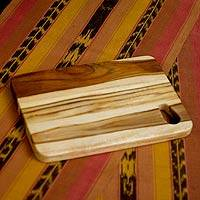 Teakwood chopping board, 'Raindrop' - Teakwood chopping board