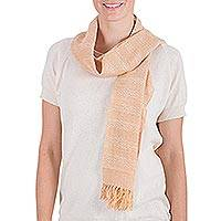 Cotton scarf, 'Summer Sunset' - Cotton scarf