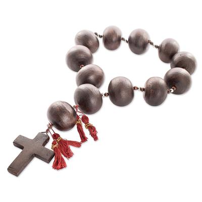Artisan Crafted Ceramic Rosary Wall Art