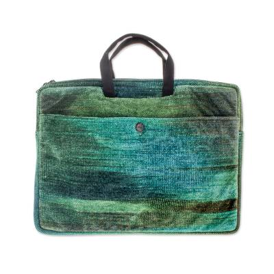 Bamboo chenille and cotton laptop case (14 inch)