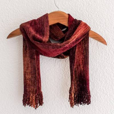 Cotton blend scarf, Autumn Dreamer