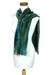 Cotton blend scarf, 'Emerald Dreamer' - Handcrafted Bamboo Chenille Cotton Blend Scarf (image 2c) thumbail