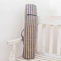 Cotton yoga mat bag, 'Tranquility'