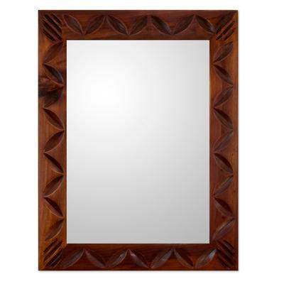 Central American Contemporary Wood Mirror