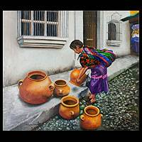 'Jars of Hope' (2011) - Guatemala Original Mixed Media Fine Art Painting