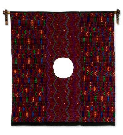 Cotton wall hanging, 'Woman of Tactic' - Handmade Cultural Art Cotton Wall Hanging