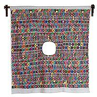 Cotton wall hanging, 'Morning in Tactic' - Cotton wall hanging