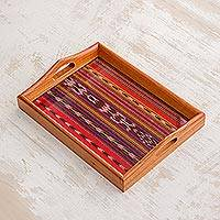 Cedar wood tray, 'Guatemala Dawn' - Cedar wood tray