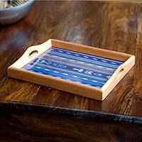 Cedar wood tray, 'Guatemala Twilight' - Cedar wood tray