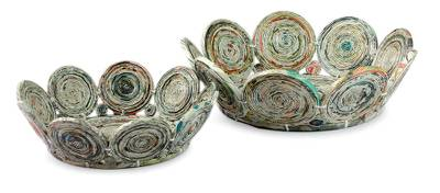 Recycled paper baskets (Pair)