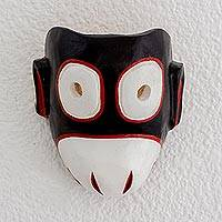 Pinewood mask, 'Dancing Monkey' - Handmade Pinewood Mask