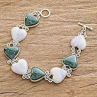 Featured review for Jade heart bracelet, Soul Mates