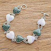 Jade heart bracelet, 'Soul Mates'