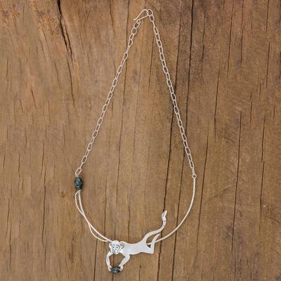 Jade pendant necklace, 'B'atz' - Jade pendant necklace