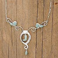 Jade pendant necklace, 'Tijax' - Jade pendant necklace