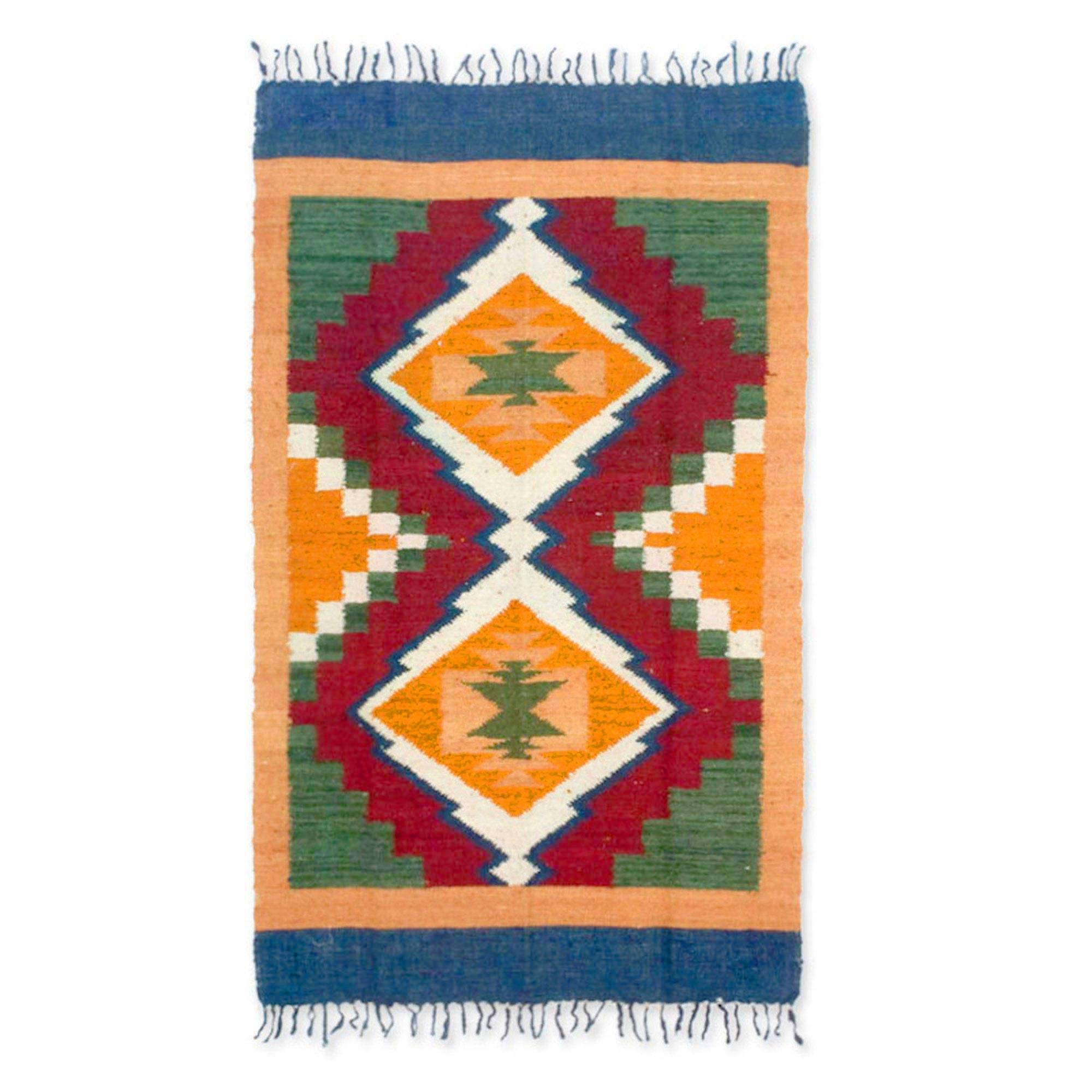 Unicef Uk Market Hand Woven Geometric Wool Area Rug
