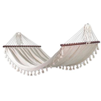 Cotton hammock, 'Take Me to the Sky' (single) - Fair Trade Mayan Cotton Hammock (Single)