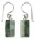Jade dangle earrings, 'Life' - Unique Good Luck Dangle Jade Earrings thumbail