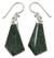 Jade dangle earrings, 'Warrior's Lance' - Fair Trade Jade and Sterling Silver Dangle Earrings (image 2a) thumbail