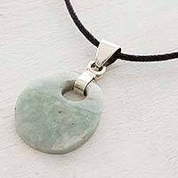 Jade pendant necklace, 'Maya Dreams'