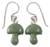 Jade dangle earrings, 'Dancing Mushrooms' - Jade dangle earrings (image 2a) thumbail
