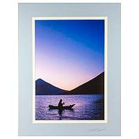 'Northern Light' - Signed Guatemalan Fisherman Color Photograph