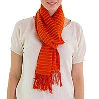 Cotton scarf, 'Citrus Fantasy'