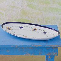 Ceramic platter, 'Margarita' - Ceramic platter