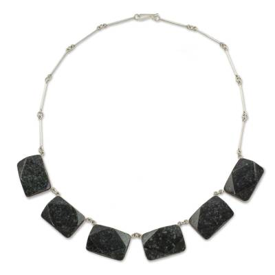 Jade pendant necklace, 'Maya Princess' - Jade pendant necklace