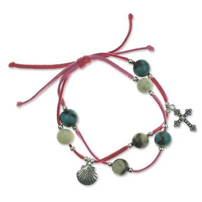 Fair Trade Leather Charm Bracelet