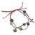 Leather and ceramic charm bracelet, 'Purple Sihua' - Fair Trade Leather Charm Bracelet thumbail
