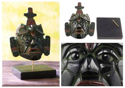 Jade mask, Maya King of Tikal (large)