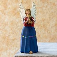 Ceramic figurine, 'Angel from Santo Domingo Xenacoj' - Handcrafted Ceramic Figurine Sculpture