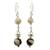 Ceramic dangle earrings, 'Azacualpa Ivory' - Ceramic dangle earrings (image 2a) thumbail