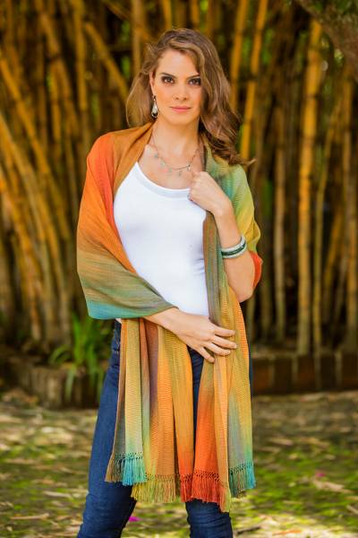 Rayon chenille shawl, Natures Ethereal Inspiration