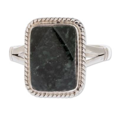 Sterling Silver Cocktail Jade Ring