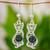 Jade dangle earrings, 'Mystic Green Cats' - Jade dangle earrings (image 2) thumbail