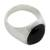 Men's black jade ring, 'Royal Treasure' - Men's Black Jade Signet Ring (image 2b) thumbail
