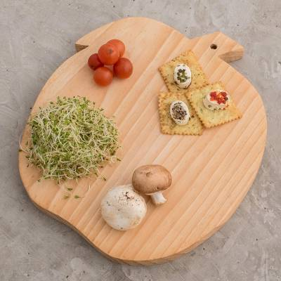 Wood cutting board, 'Grandma's Apple' - Fair Trade Wood Cutting Board