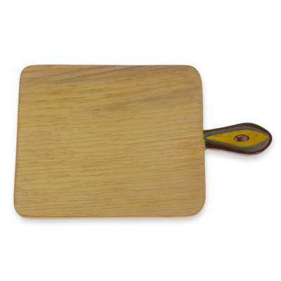 Wood cutting board, 'Avocado Reign' - Hand Carved Cutting Chopping Board Natural Wood