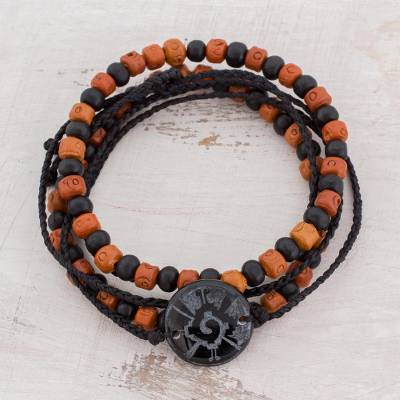 Men S Jade And Ceramic Bracelets Hunab Ku Protection Set Of 3