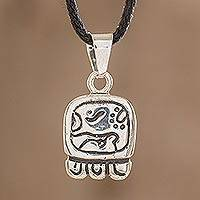 Sterling silver pendant necklace, 'Destiny's Nahual' - Sterling silver pendant necklace