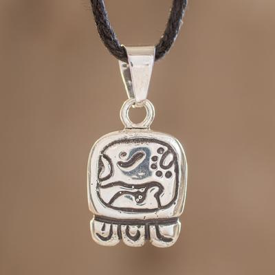 Sterling silver pendant necklace, 'Destiny's Nahual' - Sterling silver pendant necklace