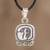 Sterling silver pendant necklace, 'Wise Nahual' - Sterling silver pendant necklace thumbail
