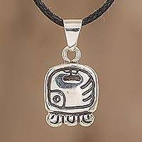 Sterling silver pendant necklace, 'Energy Nahual'