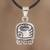 Sterling silver pendant necklace, 'Energy Nahual' - Nahual Sterling Silver Pendant Necklace (image 2) thumbail