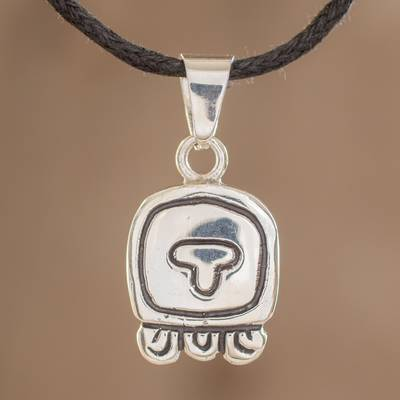 Sterling silver pendant necklace, 'Life Nahual' - Sterling silver pendant necklace